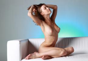 mocca, brunette, nude, naked, boobs, smile, tits