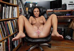 gianna nicole, brunette, sexy legs, tits, spreading legs, ass, labia, books, spreading pussy