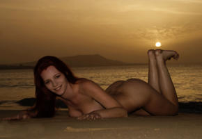 ariel, nude, outdoor, beach, ass, sexy girl, redhead, ariel piper fawn