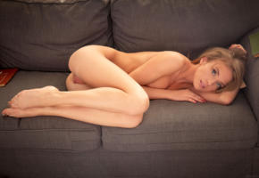 tempe, model, big labia, sofa, slim, pussy, ass, legs, nude, labia