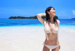 bikini, beach, pretty, posing, boracay, asian, sea, tropics, philippines, boracay island