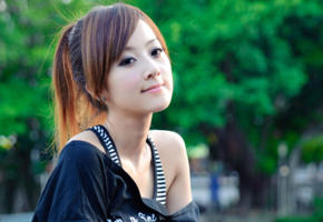 brunette, simone, asian, girl