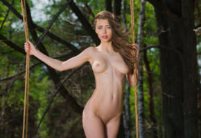 mila azul, mila, milla, milla d, auburn, outdoors, forest, swing, naked, big tits, nipples, shaved pussy, hi-q, perfect girl, perfect body, perfect tits, mia i, milla y