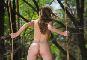 mila azul, mila, milla, milla d, auburn, outdoors, swing, forest, naked, big tits, labia, ass, hi-q, beauty, pussy, mia i, milla y