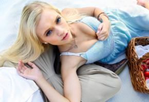 alex grey, model, beautiful, blonde, blue eyes, non nude, hot, alex, alexia, strawberries