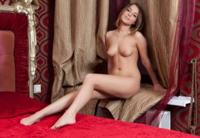 nikia, nikia a, sexy girl, adult model, bed, legs, tits, brunette, smile, natural beauty, perfect girl, perfect body