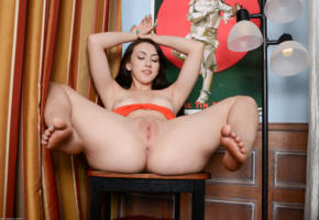 mandy muse, feet, big ass, pussy, brunette, spreading legs, shaved