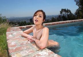 cassie laine, model, swimming pool, los angeles, cassie, cassie lane, pool, wet, nude