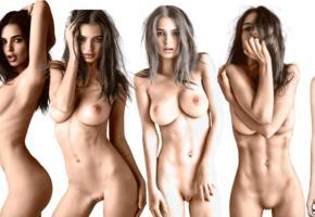 emily ratajkowski, brunette, multi, images, bad quality
