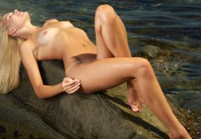 talia cherry, blonde, naked, beach, small tits, perky nipples, tanlines, hi-q, talia, talia blonde, blonde goddess