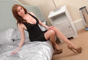 libby smith, black skirt, skirt, adorable, amazing, babe, legs, bed, libby s