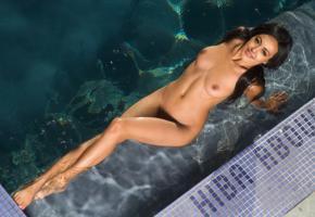 hiba abouk, actress, nude, pool, fake, tits, wet, legs