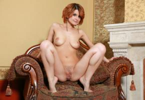 dina p, violla a, myza, sexy girl, adult model, perfect pussy, trimmed pussy, redhead, pussy, labia, boobs, tits