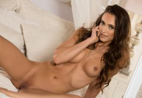 deanna greene, sexy girl, adult model, nude, naked, tanned, brunette, shaved pussy, tits, boobs