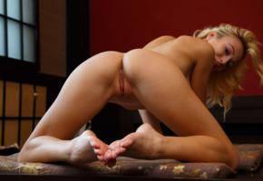 aislin, vika p, blonde, sexy girl, adult model, perfect girl, beauty, perfect body, perfect pussy, perfect ass, shaved pussy, sexy legs, sexy pose, doggy style