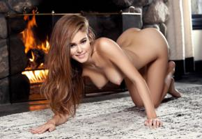 amberleigh west, model, perfect girl, perfect body, perfect tits, fireplace, playmate, carpet, ass, doggy, boobs, tits