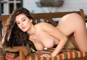 lana rhoades, model, hot, brunette, blue eyes, big tits, playmate, boobs, tits
