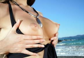 lily adams, brunette, naked, closeup, tits, perky nipples, handbra, hi-q, boobs, nipples