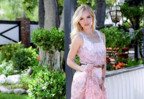 alex grey, model, pretty, blonde, blue eyes, classy, garden, twistys