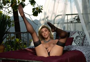niki skyler, sexy girl, adult model, hot, legs up, tits, stockings