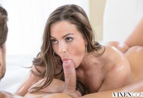 abigail mac, brunette, long hair, cock, blowjob, suck, suck dick, dick, vixen, dick adorer