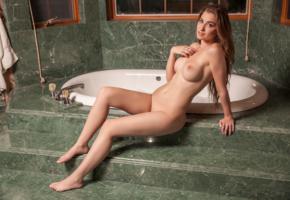 mary jane, sexy girl, adult model, nude, naked, boobs, tits, bathroom, bathtub, legs
