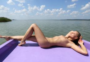 monica sweet, paddle boat, naked, small tits, tanned, hi-q, tits, nude, wet