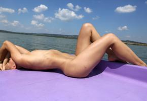 monica sweet, paddle boat, naked, small tits, tanned, hi-q, wet, nude, tits