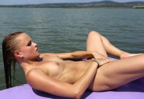 monica sweet, paddle boat, naked, small tits, nipples, tanned, hi-q, tits