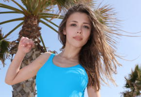 milla, watch4beauty, malaga beach, swimware, palm, tropics