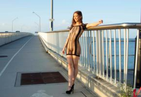 penelope, sun, brunette, naked, amateur, outdoor, sexy girl, pussy, tits, shaved pussy, legs, boobs, bridge