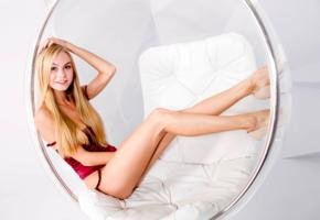 nancy a, jane f, erica, model, blonde, smile, lingerie, non nude, bubble chair