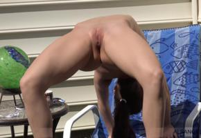 lana rhoades, alsangels, shaved, young, shaved pussy, labia, pussy, spreading legs, flexible