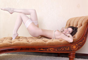 anita, anita c, anita silver, arina, danica, danita, luisa, mocca, vasilisa, mudraja, model, russian, brunette, smile, tits, big tits, legs, white stockings, stockings, nylons