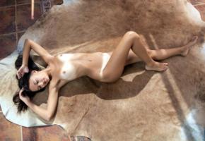 veselin, dikki, brunette, naked, tanlines, small tits, nipples, rug, hi-q