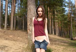 lapa, pala, taressa, model, teen, 18 years old, russian, cute, brunette, smile, panties, non nude, skinny, undressing