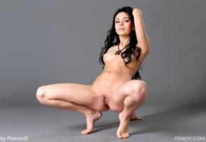 joanna, darina, genie, divina, karina, melania, nora, venessa, vicki, model, dark hair, russian, open legs, pussy, shaved pussy, labia, tits, sheri vi