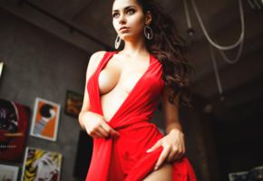 helga lovekaty, sexy, horny, perfect boobs, cleavage, sexy red dress, red dress, boobs, tits