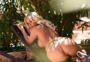 stacey robyn, blonde, hot, ass, big ass, boobs, back, topless