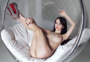 debora a, debora alta, debora y, debora, denisa g, kelly, lucky, sophie, model, sensual lips, big tits, legs up, pussy, platform high heels, stilettos, bubble chair, tits, boobs, ass