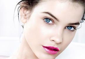 barbara palvin, model, pretty, blue eyes, magyar, hungarian, sensual lips, face