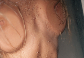 natural tits, shower, pressed, against glass, boobs, big tits, nipples, wet, unknown