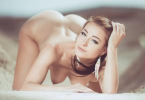 kristina uhrinova, melissa mendiny, brunette, blue eyes, adult model, model, beach, earrings, ass, doggystyle, boobs, nipples