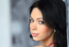 sheri vi, joanna, darina, genie, divina, karina, melania, nora, venessa, vicki, model, russian, dark hair, lips, face