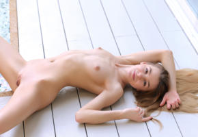 stefani, pool, naked, puffy nipples, shaved pussy, labia, spread legs, smile, hi-q, tits, nude