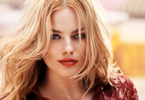 margot elise robbie, model, actress, beautiful, blonde, blue eyes, lips, face, vogue, margot robbie