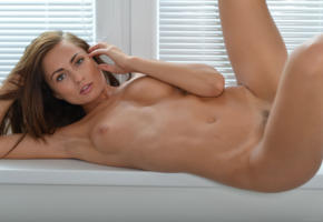 michaela isizzu, naked, brunette, tits, posing, sexy, boobs, tanned, nude