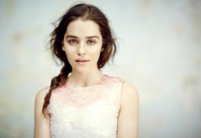emilia clarke, actress, beautiful, lips, face, british