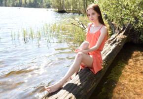 lapa, pala, taressa, model, teen, pretty, russian, dress, lake, non nude, skinny
