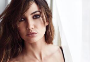 lily aldridge, brunette, top model, beautiful, lips